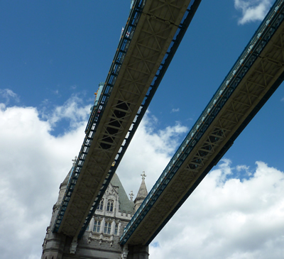 Tower Bridge walkway from outside